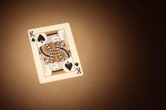 De achtergrond van kaarten. Koning Royalty-vrije Stock Afbeelding