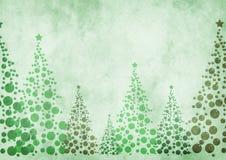 De achtergrond van kerstbomen stock illustratie