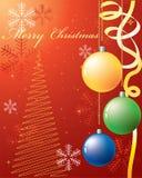 De achtergrond van Kerstmis. Stock Afbeeldingen