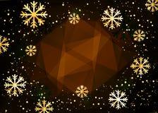 De achtergrond van Kerstmis Abstracte illustratie met sneeuwvlokken Gemakkelijk modern malplaatje Stock Fotografie