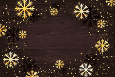 De achtergrond van Kerstmis Abstracte illustratie met sneeuwvlokken Gemakkelijk modern malplaatje Stock Afbeeldingen