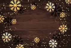 De achtergrond van Kerstmis Abstracte illustratie met sneeuwvlokken Gemakkelijk modern malplaatje Stock Foto