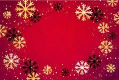 De achtergrond van Kerstmis Abstracte illustratie met sneeuwvlokken Gemakkelijk modern malplaatje Royalty-vrije Stock Fotografie