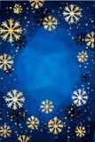 De achtergrond van Kerstmis Abstracte illustratie met sneeuwvlokken Gemakkelijk modern malplaatje Royalty-vrije Stock Afbeelding