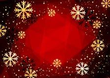 De achtergrond van Kerstmis Abstracte illustratie met sneeuwvlokken Gemakkelijk modern malplaatje Royalty-vrije Stock Foto