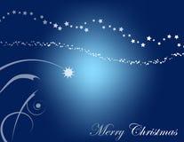 De Achtergrond van Kerstmis in Blauw Stock Afbeeldingen