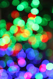 De achtergrond van Kerstmis bokeh Stock Afbeeldingen