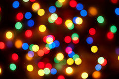 De achtergrond van Kerstmis bokeh Stock Fotografie