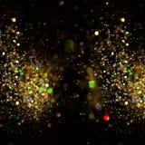 De achtergrond van Kerstmis De feestelijke abstracte achtergrond met bokeh defocused Royalty-vrije Stock Afbeeldingen