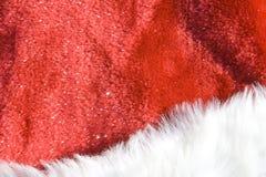 De Achtergrond van Kerstmis - de Hoed van de Kerstman Royalty-vrije Stock Fotografie