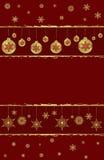 De achtergrond van Kerstmis en van het Nieuwjaar Stock Foto