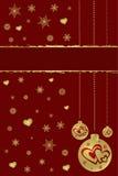 De achtergrond van Kerstmis en van het Nieuwjaar Stock Afbeelding
