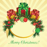 De achtergrond van Kerstmis en van het Nieuwjaar Royalty-vrije Stock Foto's