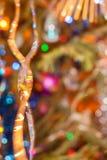 De achtergrond van Kerstmis en van het Nieuwjaar Samenvatting Vage Achtergrond Stock Foto's
