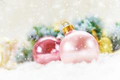 De achtergrond van Kerstmis Gelukkig Nieuwjaar Selectieve nadruk royalty-vrije stock afbeelding