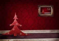 De achtergrond van Kerstmis grunge Stock Foto