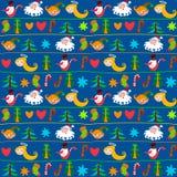 De achtergrond van Kerstmis, het behang van het Nieuwjaar Royalty-vrije Stock Afbeeldingen