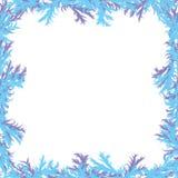 De achtergrond van Kerstmis Ijzige patronen Kader met Stock Afbeeldingen