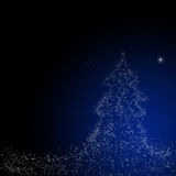 De achtergrond van Kerstmis: Kerstster Royalty-vrije Stock Foto