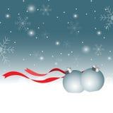 De Achtergrond van Kerstmis met bal Stock Foto