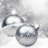 De Achtergrond van Kerstmis met ballen Royalty-vrije Stock Foto
