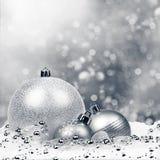 De Achtergrond van Kerstmis met ballen Royalty-vrije Stock Fotografie