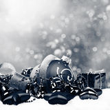 De Achtergrond van Kerstmis met ballen Stock Afbeelding