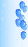 De achtergrond van Kerstmis met ballons Royalty-vrije Illustratie