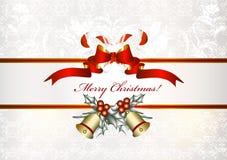 De achtergrond van Kerstmis met banner Stock Foto's