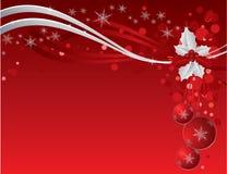 De achtergrond van Kerstmis met bessen Royalty-vrije Stock Foto