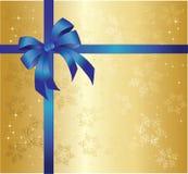 De achtergrond van Kerstmis met blauwe boog vector illustratie