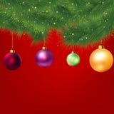 De achtergrond van Kerstmis met boom. EPS 8 Stock Fotografie