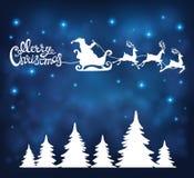 De achtergrond van Kerstmis met de Kerstman Royalty-vrije Stock Foto's