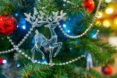 De achtergrond van Kerstmis met decoratie Stock Foto