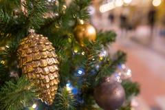 De achtergrond van Kerstmis met decoratie Royalty-vrije Stock Afbeeldingen