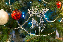 De achtergrond van Kerstmis met decoratie Royalty-vrije Stock Afbeelding