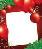 De achtergrond van Kerstmis met decoratievoorwerpen stock illustratie
