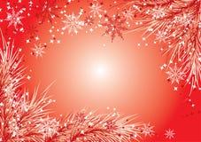 De achtergrond van Kerstmis met een bont-boom, vector Royalty-vrije Stock Afbeeldingen