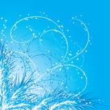 De achtergrond van Kerstmis met een spar, vector Royalty-vrije Stock Fotografie