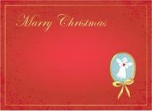 De achtergrond van Kerstmis met engel. Stock Afbeeldingen