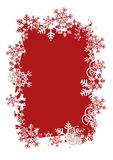 De achtergrond van Kerstmis met frame van sneeuwvlokken Royalty-vrije Stock Afbeeldingen