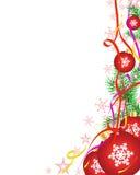 De achtergrond van Kerstmis met gebieden Stock Afbeelding