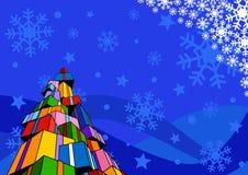 De achtergrond van Kerstmis met giften Stock Foto's