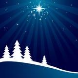De achtergrond van Kerstmis met het sluiten van ster Royalty-vrije Stock Afbeelding