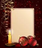 De achtergrond van Kerstmis met kaars vector illustratie