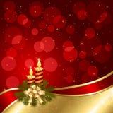 De achtergrond van Kerstmis met kaarsen vector illustratie