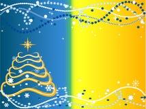 De achtergrond van Kerstmis met Kerstboom Stock Foto's