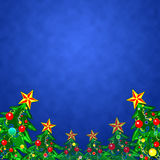 De achtergrond van Kerstmis met Kerstboom, illustratie Royalty-vrije Stock Foto's