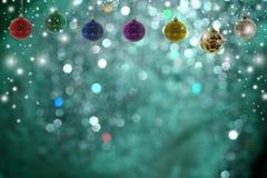 De achtergrond van Kerstmis met Kerstmisbal Royalty-vrije Stock Fotografie
