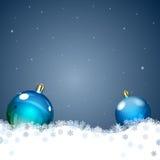 De achtergrond van Kerstmis met Kerstmisballen Stock Afbeeldingen